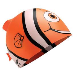 TYR Charactyrs Happy Fish - Bonnet de bain Enfant - orange/blanc